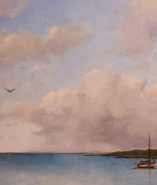 't Wad Vlieland- SurfArt Origineel schilderij