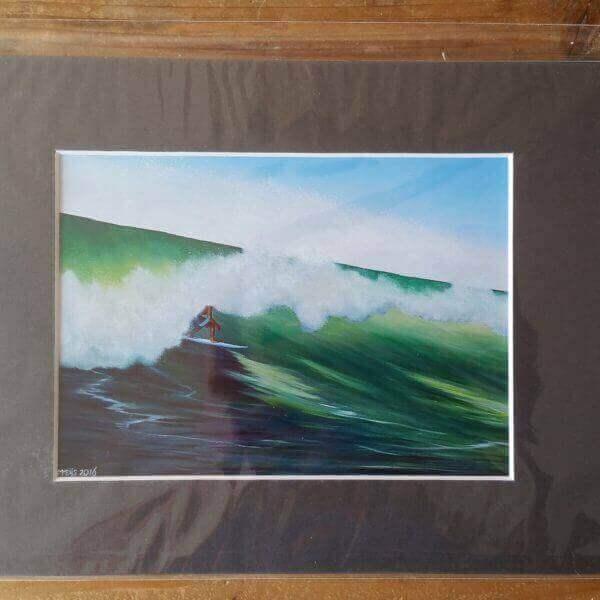 SurfArt passepartout reproduction Green wave