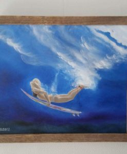 SurfArt painting Duck dive