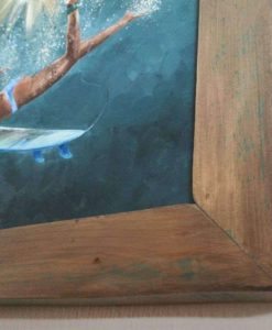 SurfArt painting Golden duck dive
