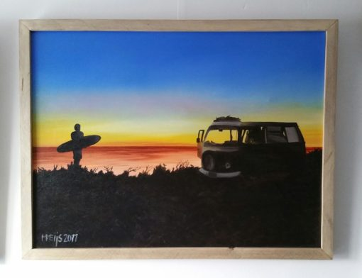 SurfArt painting The van Volkswagen
