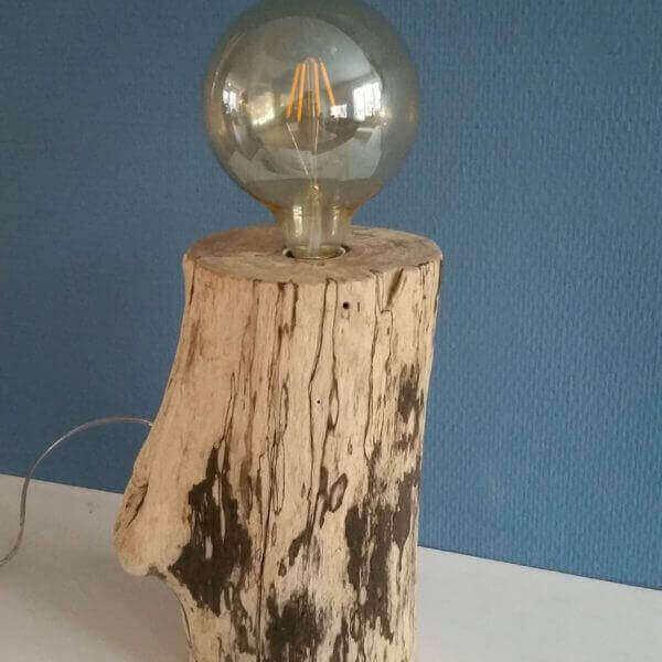SurfArt driftwood lamp