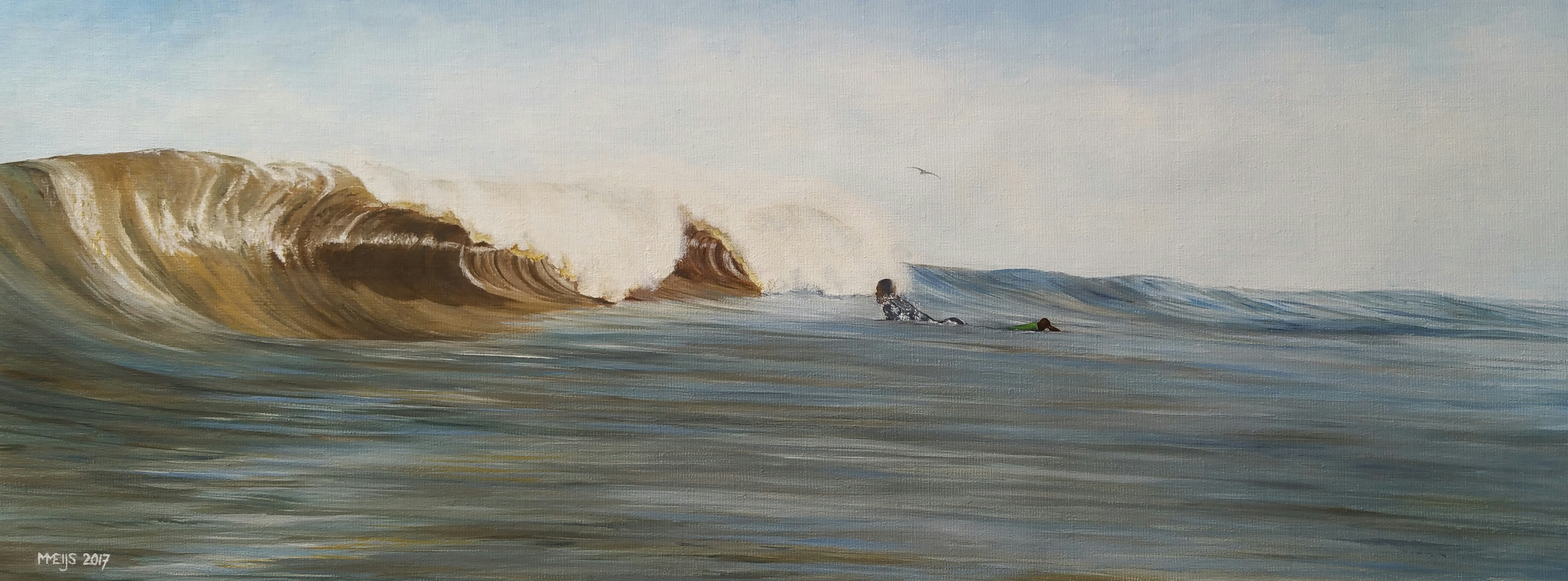 SurfArt original painting Dutch barrels