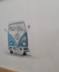 SurfArt the blue van