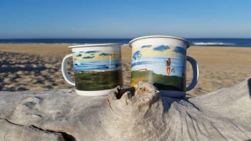 SurfArt enamel coffree mug