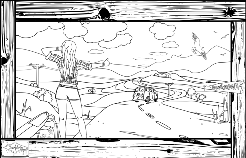 Coloring page SurfArt