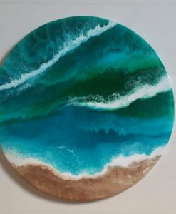 SurfArt Resin Art Oceans beach scene